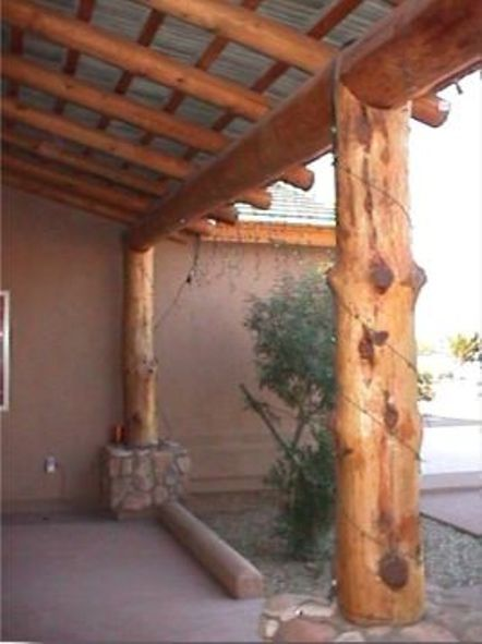 Southwest Patios Wood Pole Patio Wooden Pine Pole Patios